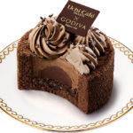 GODIVA監修の新作ロールケーキ ダーク&ミルクチョコが織りなす渦が特長