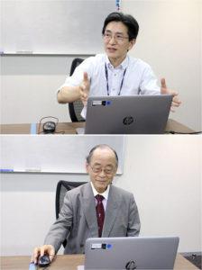 福島洋一室長㊤(ネスレ日本)と医学博士の板倉弘重氏